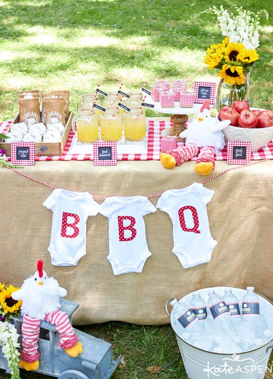 A Baby-Q is an Adorable Gender-Neutral Baby Shower Theme.