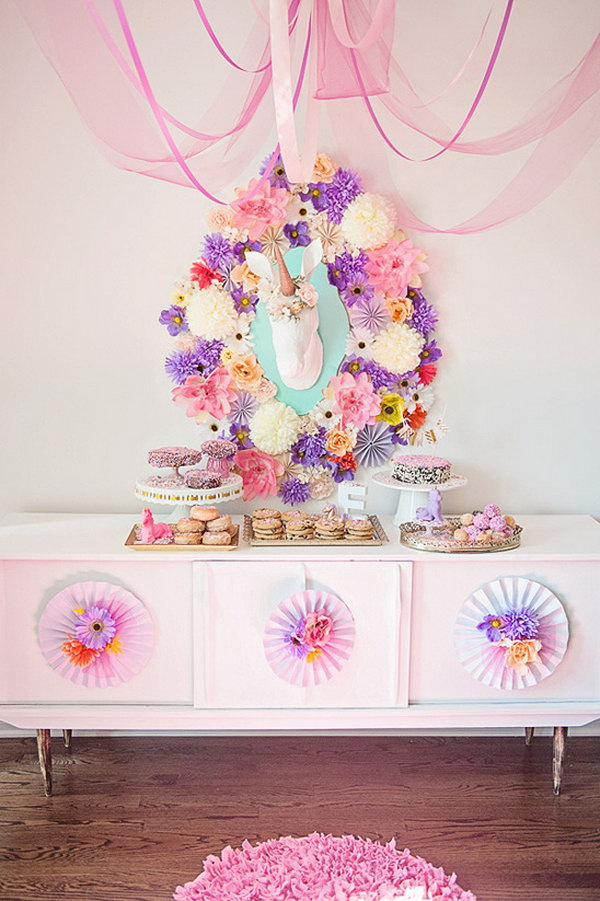 Whimsical Unicorn Baby Shower Theme.