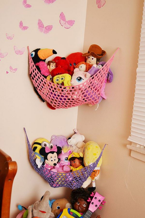 Easy Crochet Stuffed Toy Solution That Utilize Space In Corner