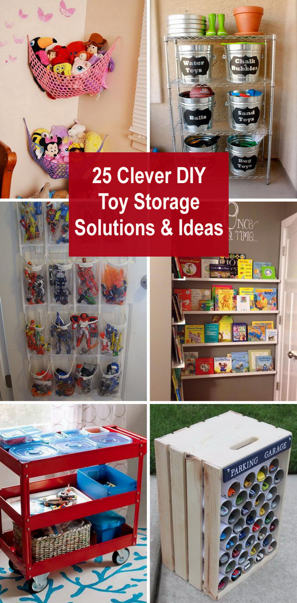 25 Clever DIY Toy Storage Solutions and Ideas.