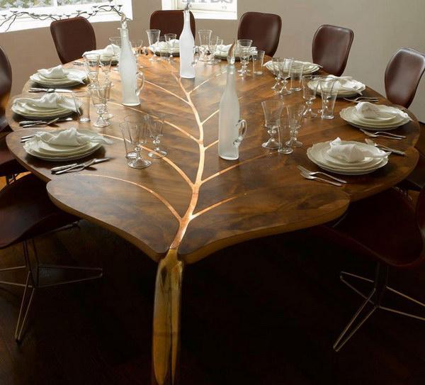 Beautiful Leaf Shaped Table.