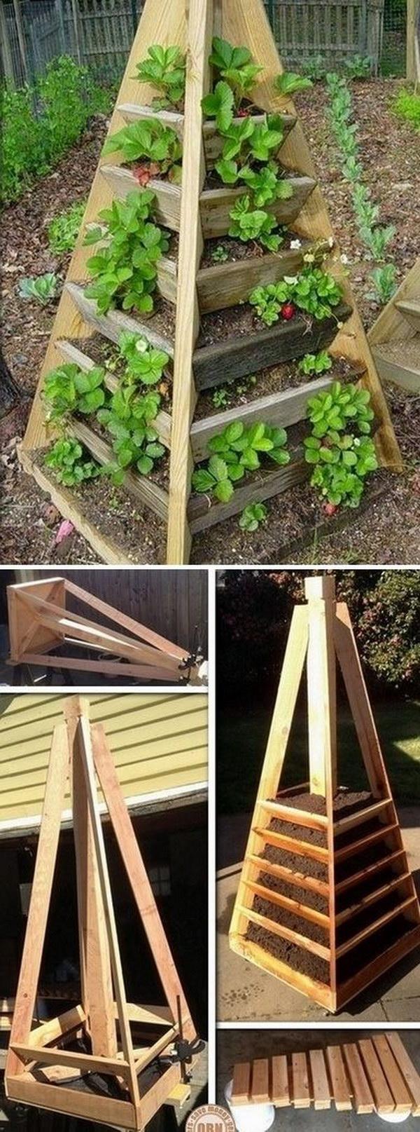 DIY Vertical Pyramid Garden Planter