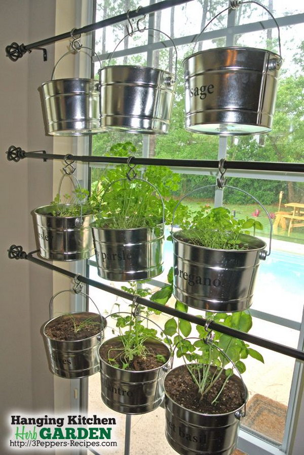DIY Hanging Kitchen Herb Garden