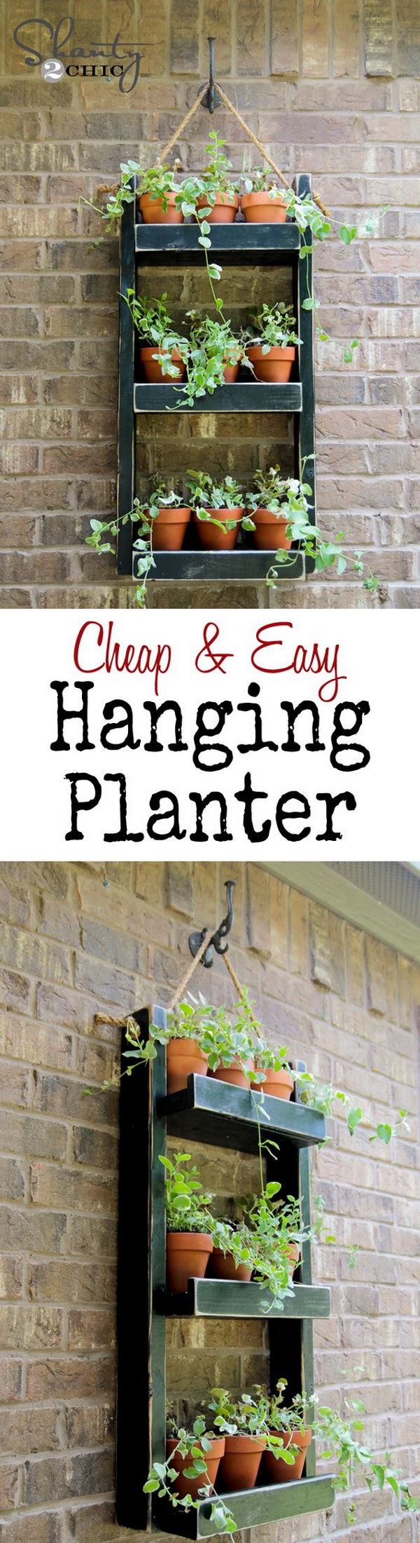 DIY Hanging Wood Planter