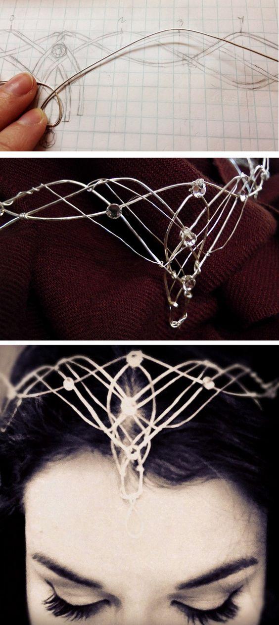 DIY Wire Elvish Crown.