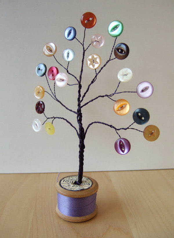 Wire Button Trees.