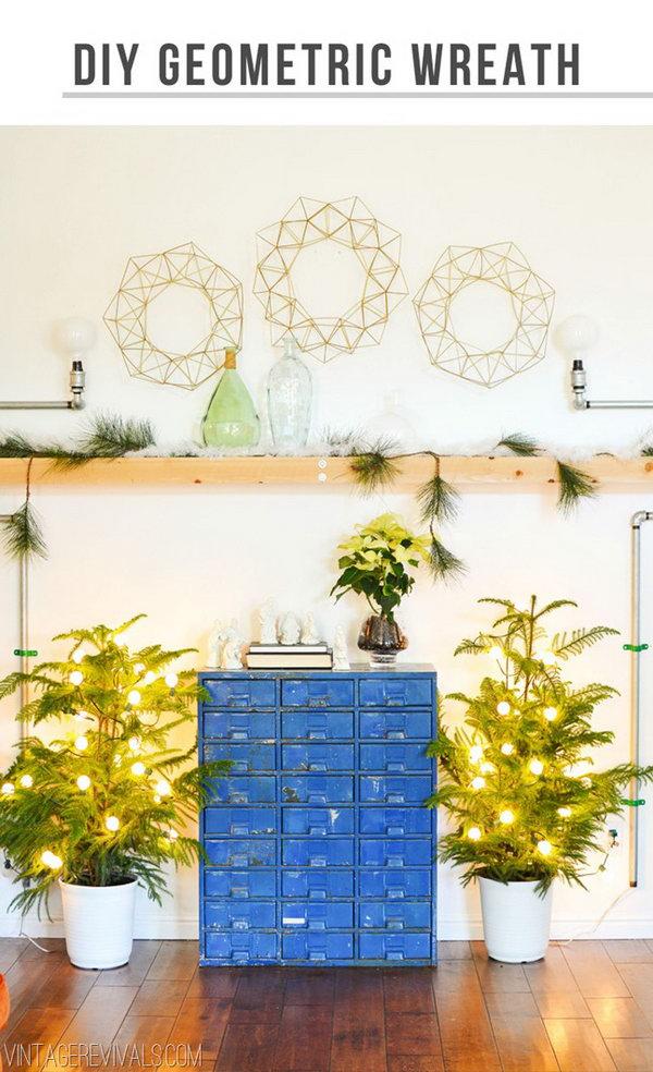 Wire Geometric Wreath.