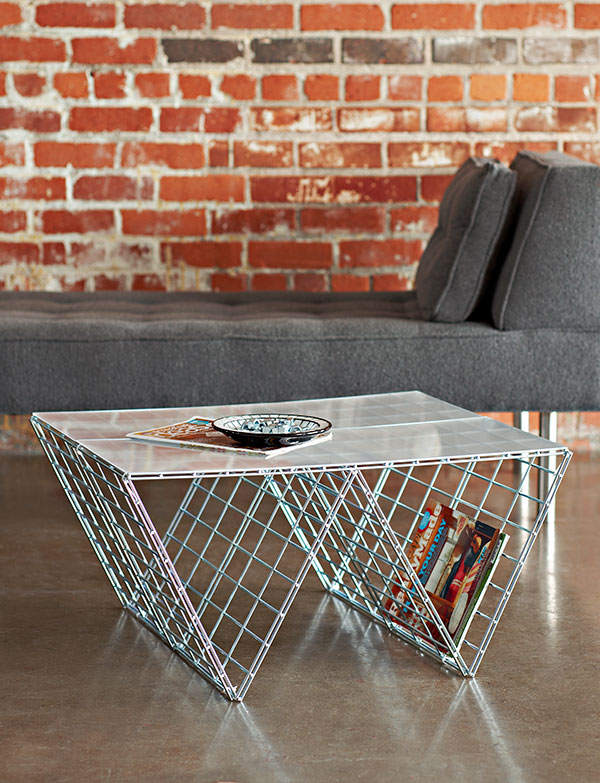 DIY Wire Side Table.