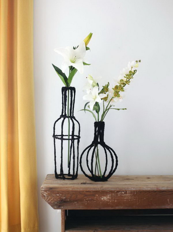 Decorative Wire Vases.
