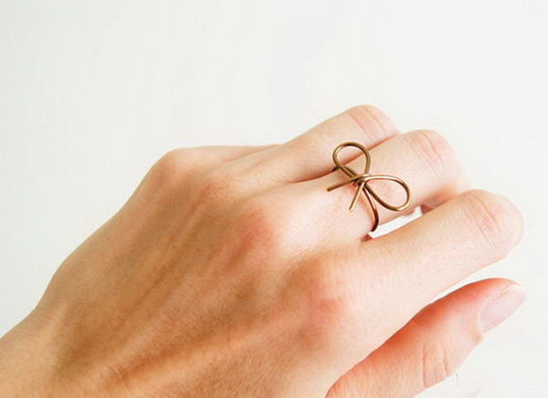 Wire Bow Ring.