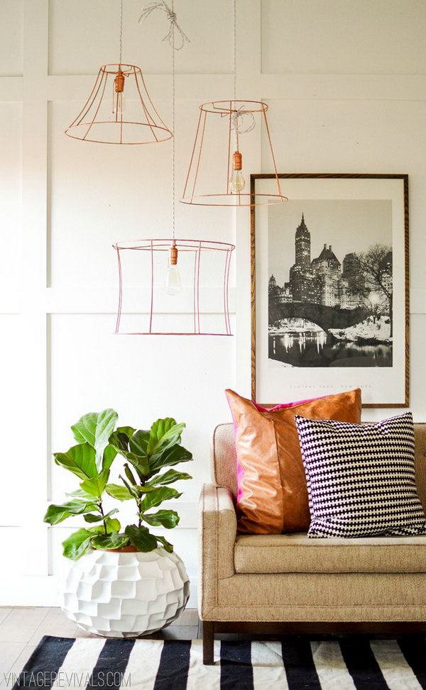 Copper Wire Pendant Lights.