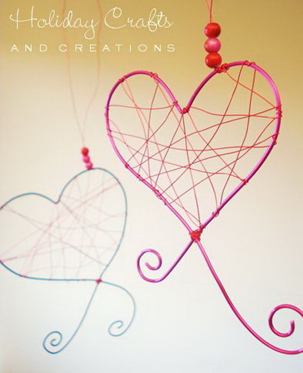Wire Hearts for Decoration.