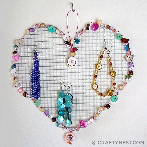 Wire Mesh Jewelry Holders with Beads.