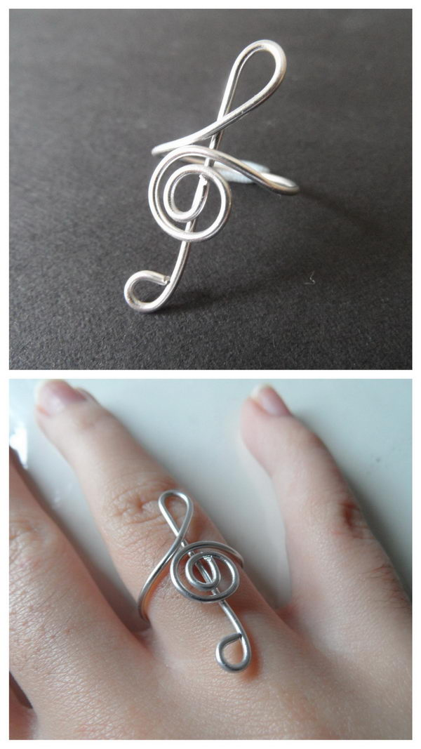 DIY Wire Clef Ring.
