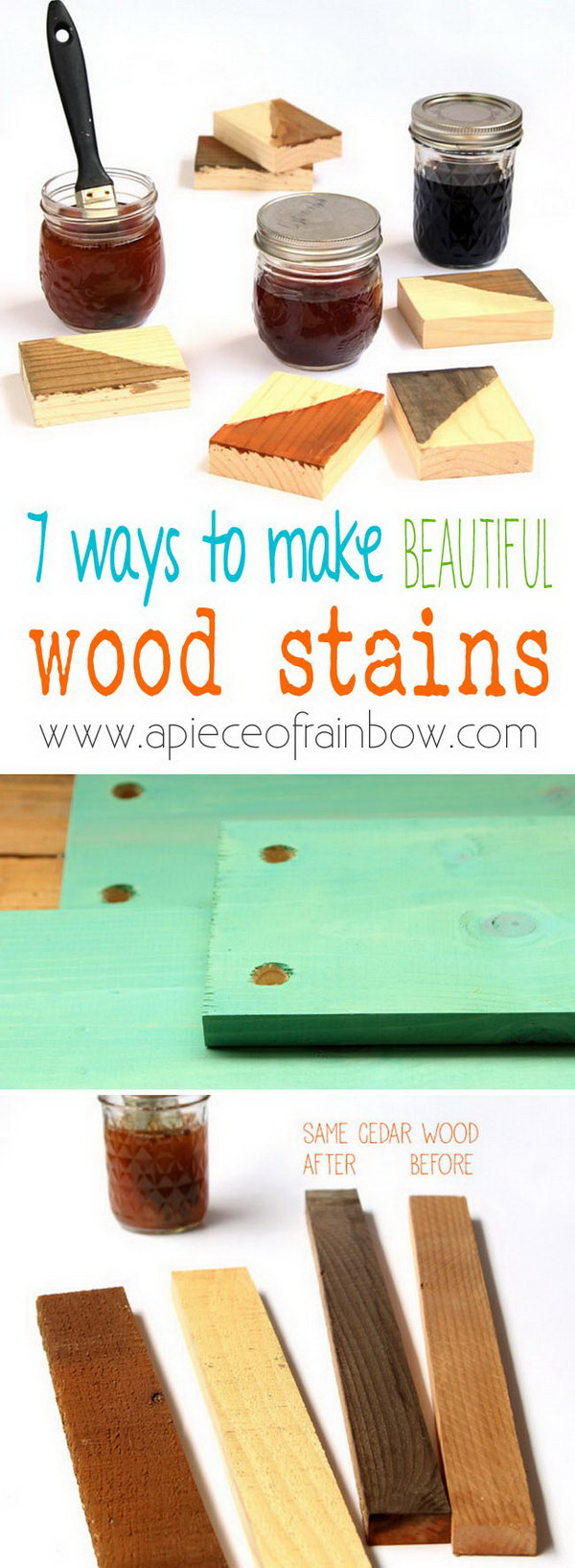 Homemade Natural & Effective Wood Stains.