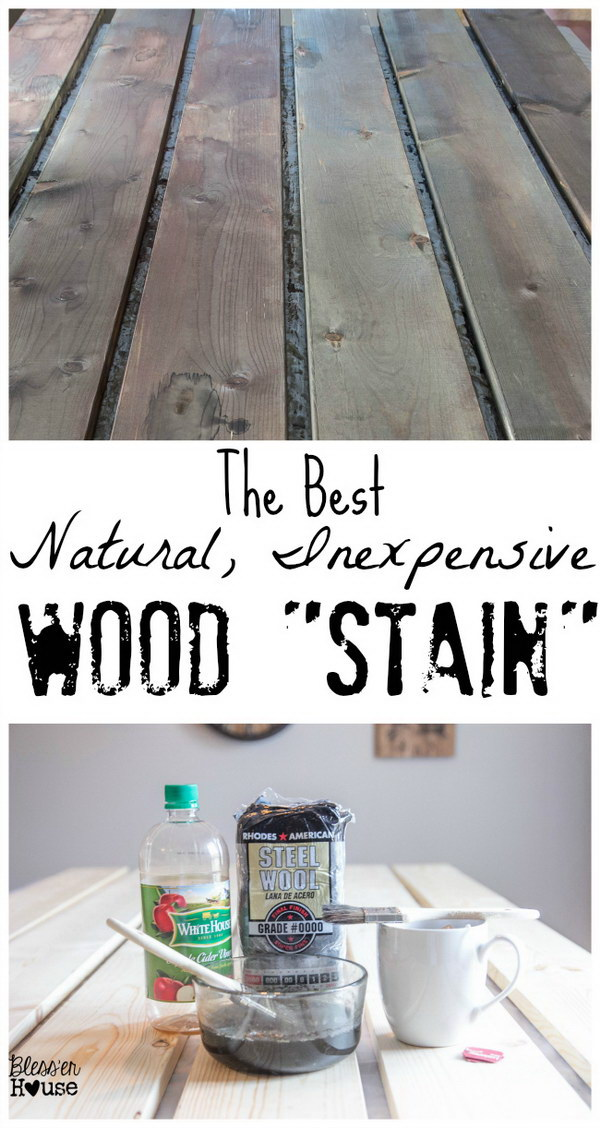 "The Most Natural, Inexpensive Way to ""Stain"" Wood with Black Tea, Coffee and Apple Cider Vinegar."