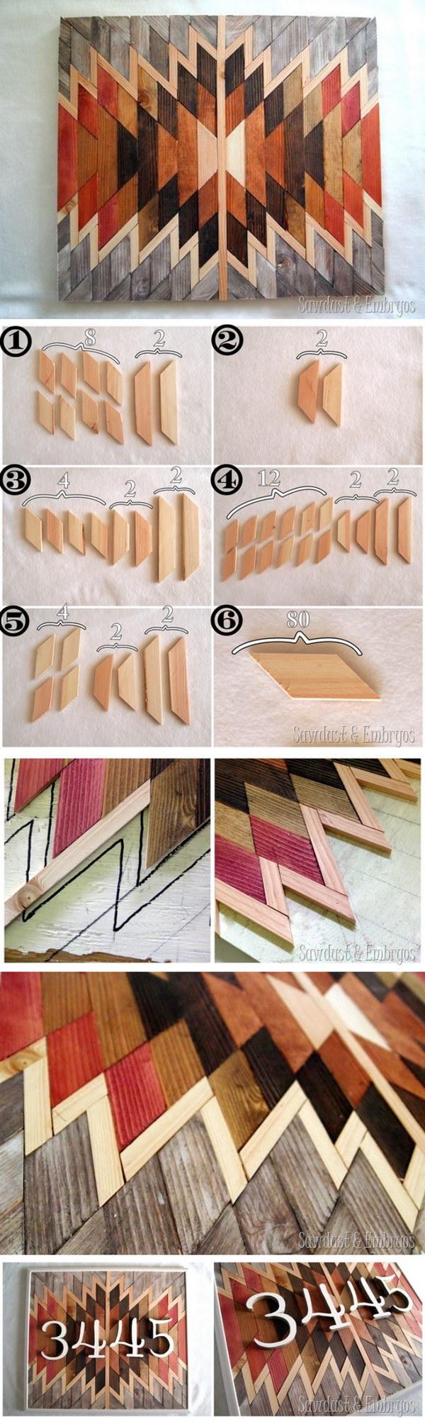 DIY Wooden Native Wall Art.