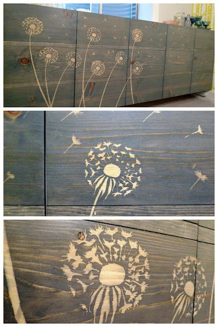 Stenciling with Wood Stains.