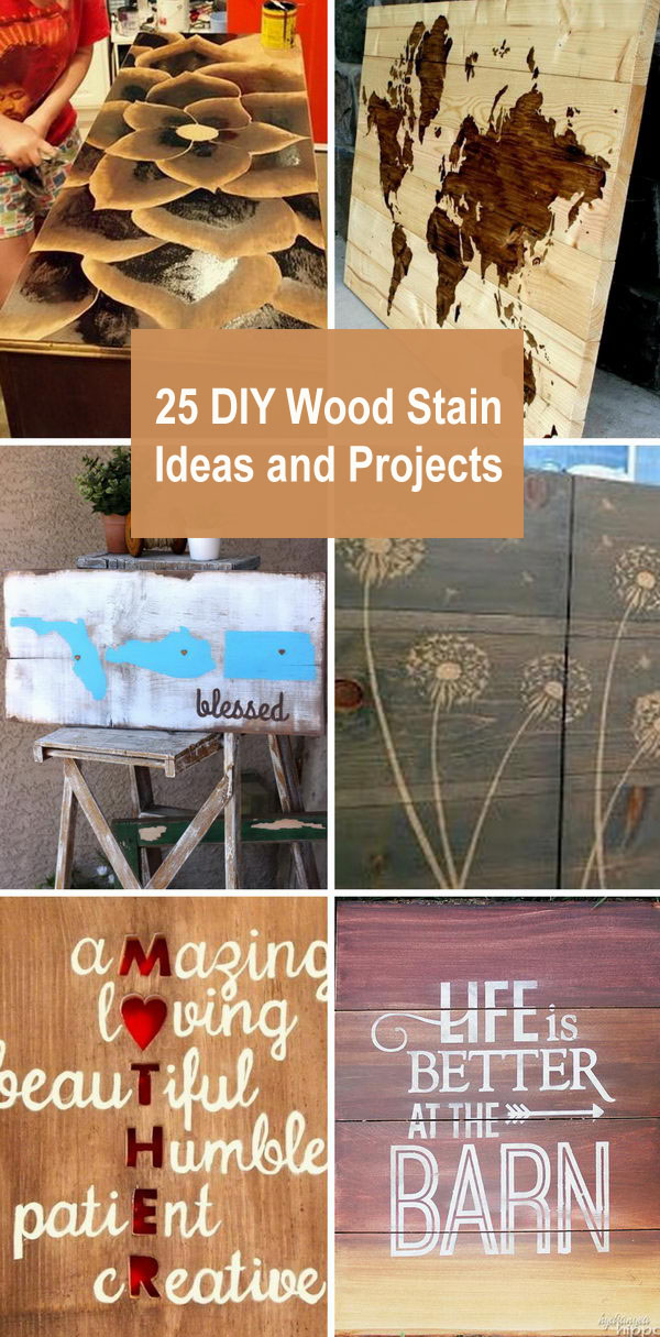 25 DIY Wood Stain Ideas and Projects.