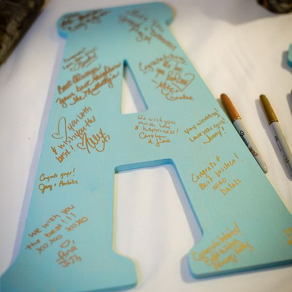 20 Creative Baby Shower Guest Book DIY Ideas 2018