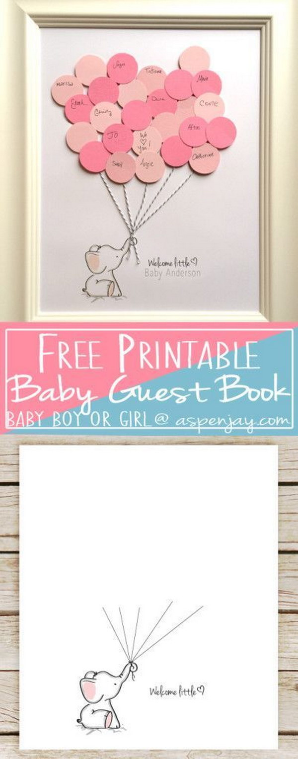 20 Creative Baby Shower Guest Book DIY Ideas 2017