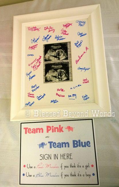 Team Pink or Team Blue Gender Reveal Idea.