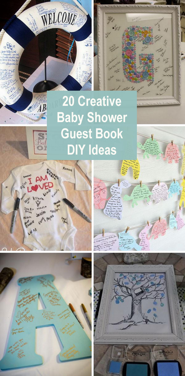 757b3e2f3 20 Creative Baby Shower Guest Book DIY Ideas 2018