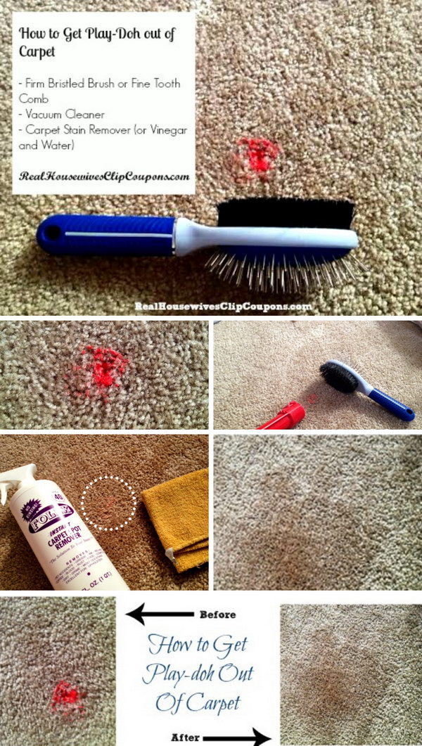 How To Get Play-doh Out of Carpet.