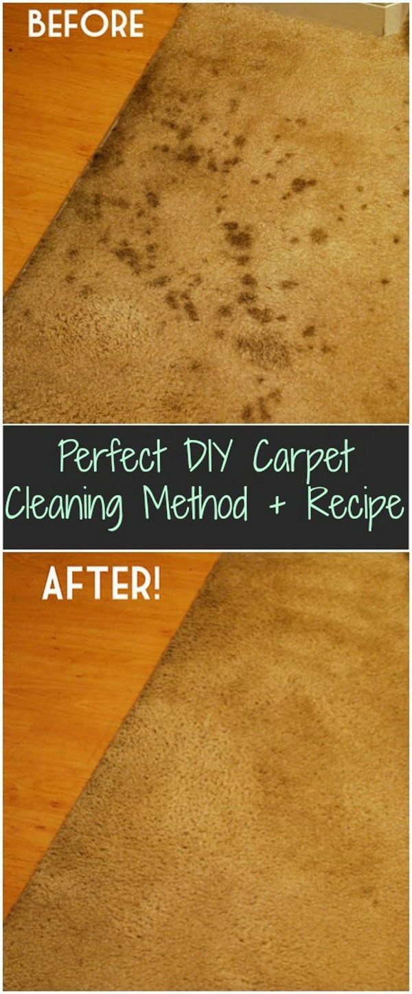 DIY Carpet Cleaning Method and Recipe.