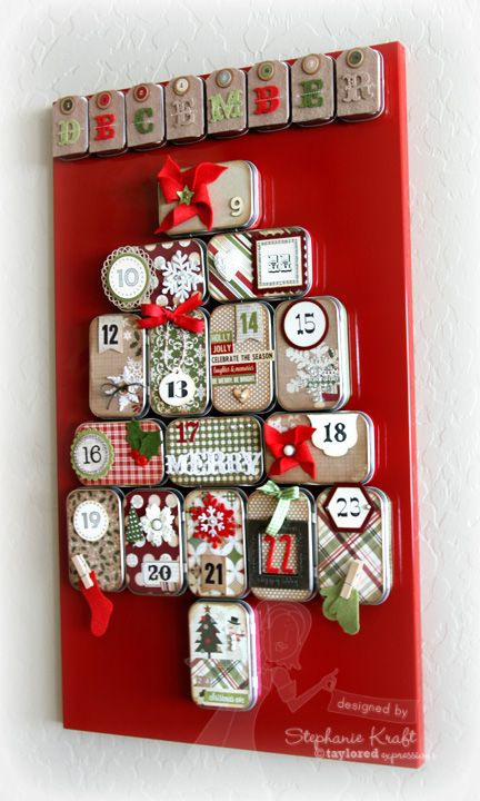 Advent Calendar Using Mini Altoid Tins.