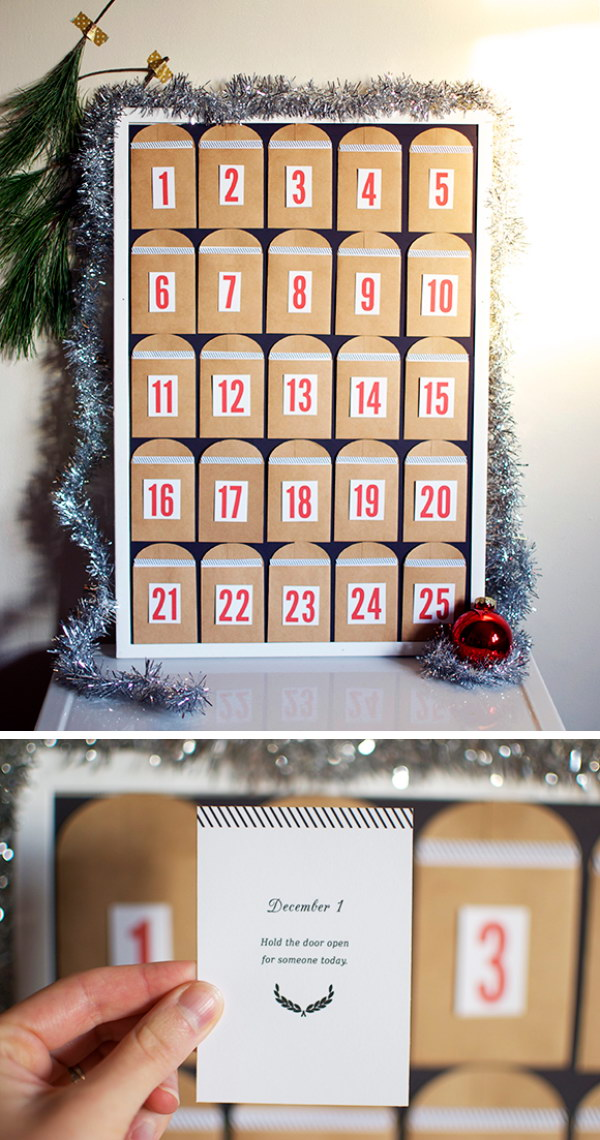 DIY Advent Calendar: Count Down to Christmas.