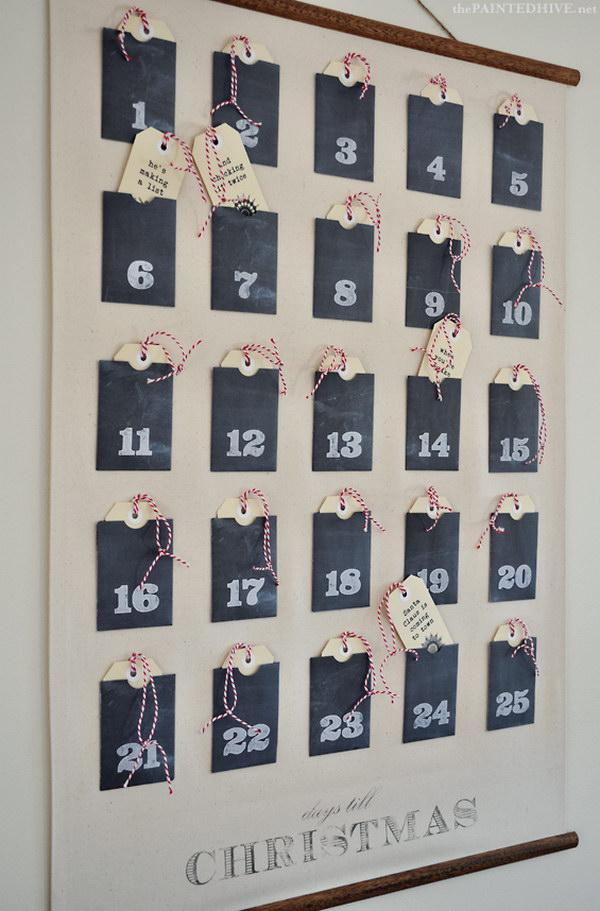 Christmas Advent Calendar Wall Chart.