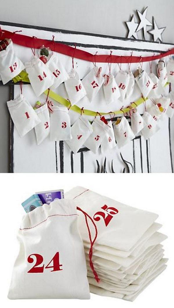 Christmas Countdown Goodie Bags.