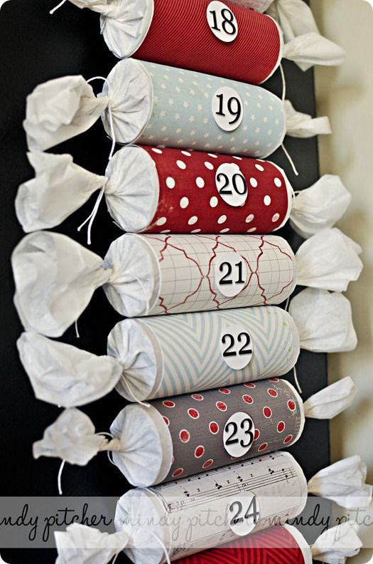 Toilet Paper Roll Advent Calendar.