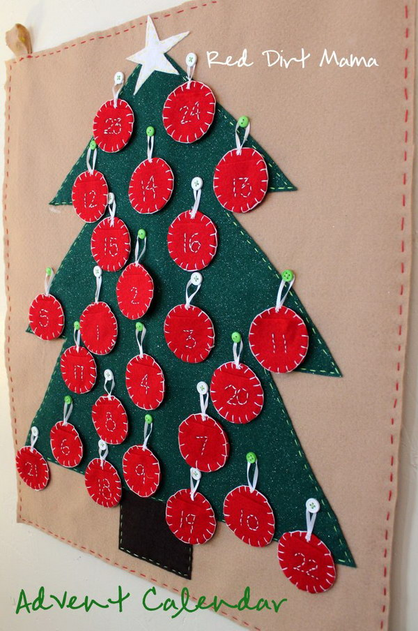 Diy Calendar Christmas : Diy christmas countdown calendar ideas and tutorials