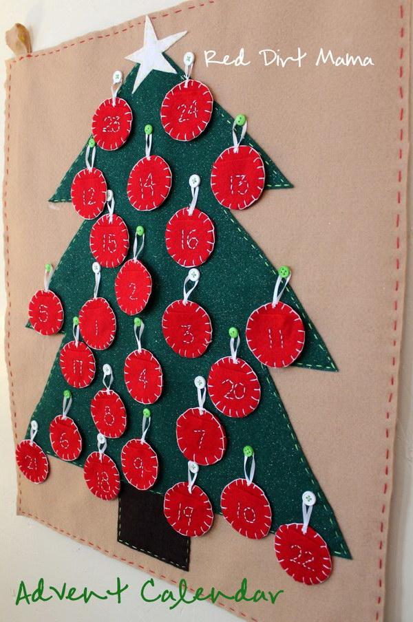 Felt Tree and Ornament Calendar.