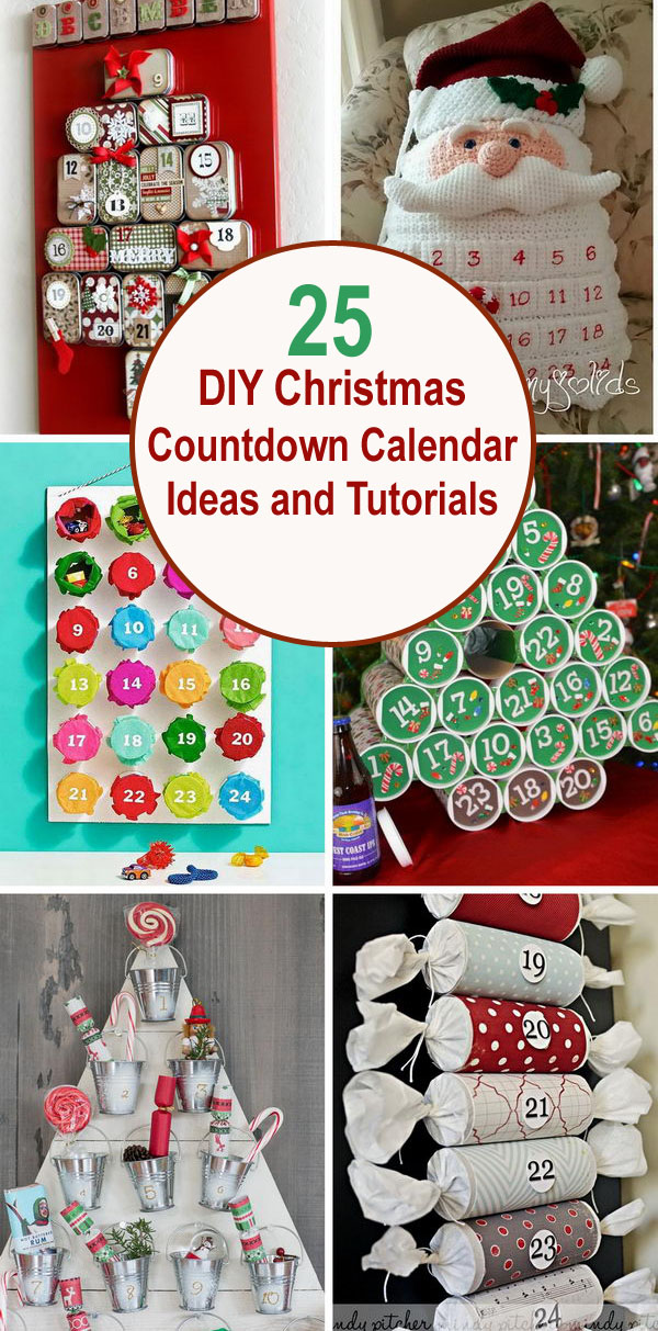 25 DIY Christmas Countdown Calendar Ideas and Tutorials.
