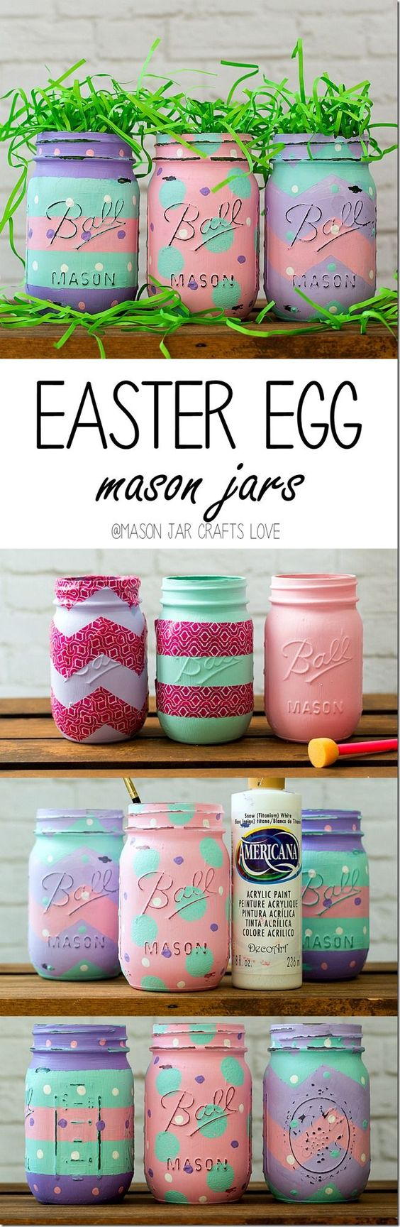 Easter Egg Mason Jars.