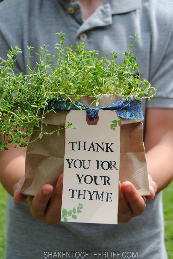 Thank You Herb Gifts.