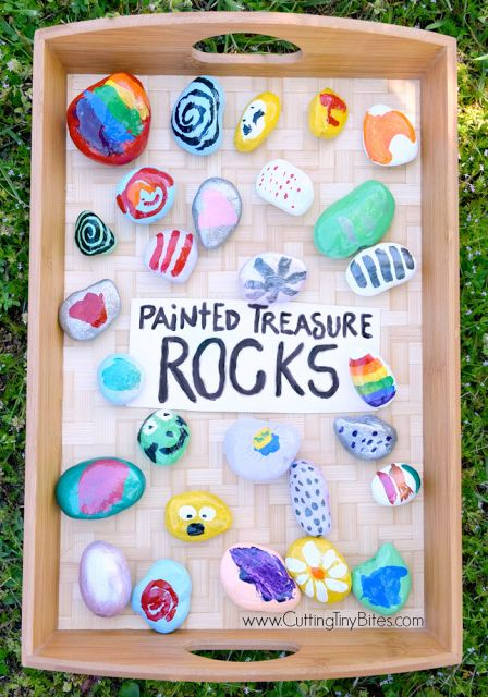 Painted Treasure Rocks.