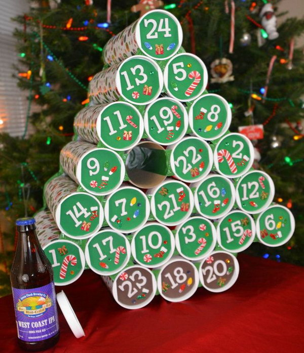 Beer Advent Calendar. This is a pretty awesome gift and beer lovers would surely love it.