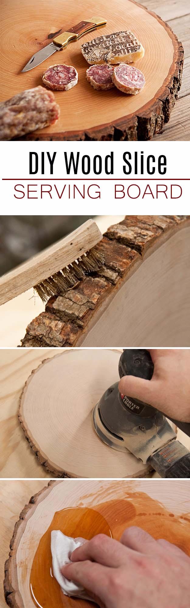 Wood Slice Serving Board For Him.