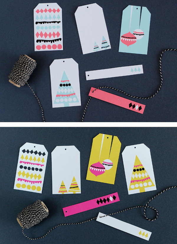 Brightly-Colored Gift Tags.