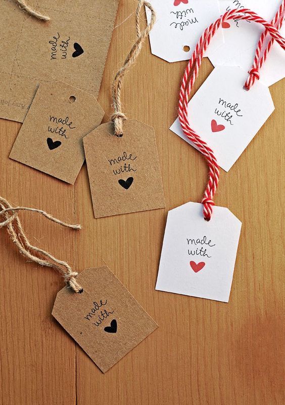 Made With Love Gift Tags.