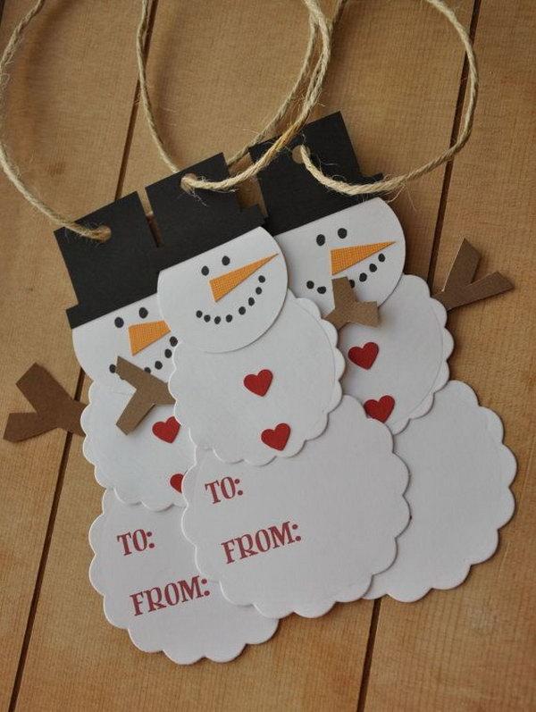 Snowman Gift Tag DIY.