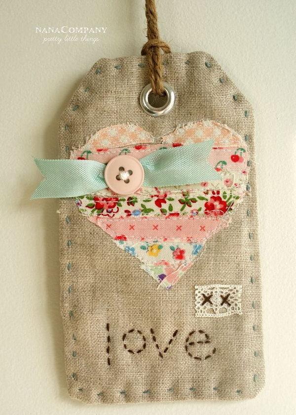 DIY Fabric Gift Tags.