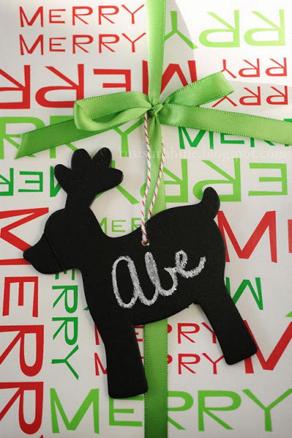Reusable Chalkboard Gift Tags.