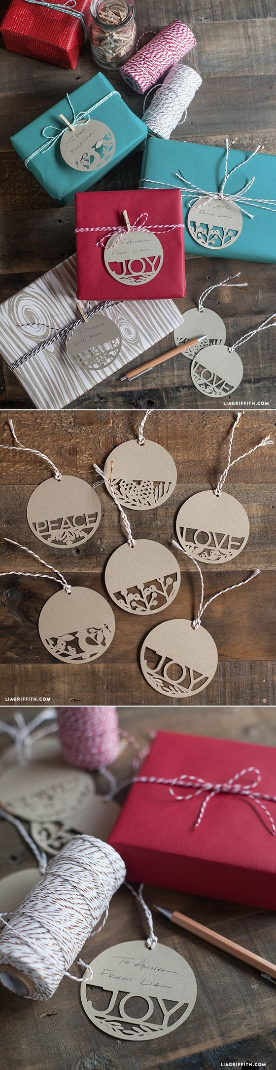 Paper Cut Holiday Gift Tags.