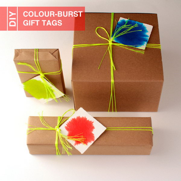 DIY Colour-Burst Gift Tags.