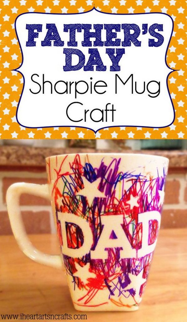Kid-Made Father's Day Sharpie Mug